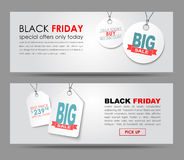 Banners Black Friday sale Royalty Free Stock Images