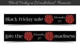 Banners Black Friday Sale in Wonderland - Cookie. Vector Illustration for Graphic Projects, Parties and the Internet Stock Image