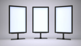 Banners with blank screen Royalty Free Stock Photo