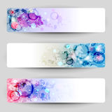 Banners with blots. Set of banners with grungy background royalty free illustration