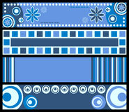 banners blue retro Στοκ Φωτογραφία