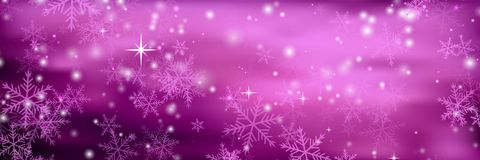 Banners with bokeh effect and snowflake. Vector Royalty Free Stock Photography