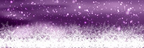 Banners with bokeh effect and snowflake. Vector Royalty Free Stock Image