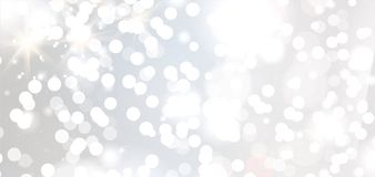 Banners with bokeh effect and snowflake. Vector Stock Images