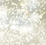 Banners with bokeh effect and snowflake. Vector Stock Photos