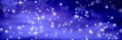 Banners with bokeh effect and snowflake. Vector Stock Photography