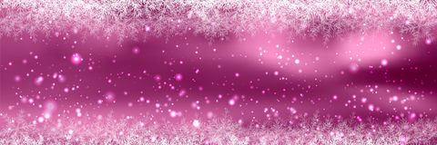 Banners with bokeh effect and snowflake. Vector Stock Image