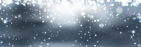 Banners with bokeh effect and snowflake. Vector Royalty Free Stock Images