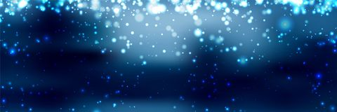 Banners with bokeh effect and snowflake. Vector Royalty Free Stock Photo