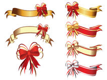 Banners and bow. Collection  illustration Stock Photo