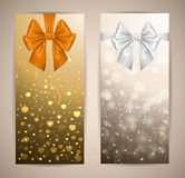 Banners with bows Stock Photo