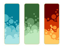 Banners with bubbles Stock Image