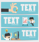 Banners Businessman Flat Royalty Free Stock Photo