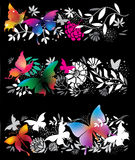 Banners with butterflies Stock Image