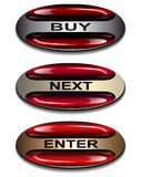 Banners,  buttons. Royalty Free Stock Photography