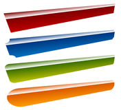 Banners, buttons 4 shape and 4 color Royalty Free Stock Images