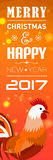 Banners with 2017 Chinese New Year Elements. Bokeh. Vector illustration. Vector illustration of Banners with 2017 Chinese New Year Elements. Bokeh Royalty Free Stock Image