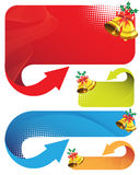 Banners with Christmas with bells Stock Image