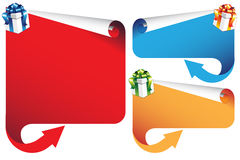 Banners with Christmas with elements Stock Photo
