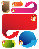 Banners with Christmas with elements Royalty Free Stock Photography