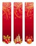 Banners with Christmas symbol Royalty Free Stock Images