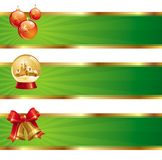 Banners with Christmas symbols Stock Photos