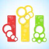 Banners with circles, vector  Stock Photography