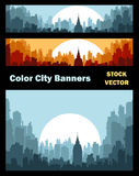 Banners on city theme Royalty Free Stock Images