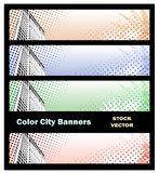 Banners on city theme Royalty Free Stock Photography