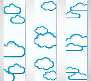 Banners with clouds frames Stock Image