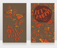 Banners for cocktails bar Stock Images