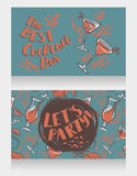Banners for cocktails bar Royalty Free Stock Images