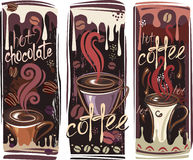 Banners with coffee Stock Photos