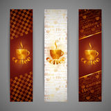 Banners with coffee cup Royalty Free Stock Image
