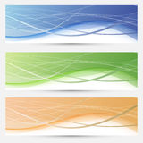 Banners collection - lines and swooshes Royalty Free Stock Image