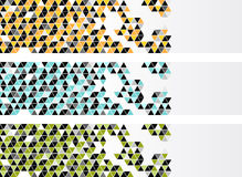 Banners with color triangles Royalty Free Stock Photo