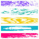 Banners colored graffiti collection symbols vector illustration Stock Photography