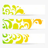 Banners. Colorful abstract backgrounds. Pattern Stock Photos