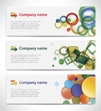 Banners with colorful cells Stock Photography