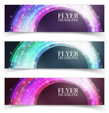 Banners with colorful cells Stock Photos