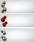 Banners with colorful christmas balls Stock Image