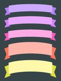 Banners. Colorful ribbon banners - empty banner template with copyspace. Ribbons set Stock Photo
