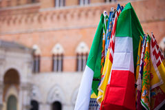 Banners of the Contrade in Siena Stock Images