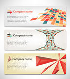Banners with the corporate style Royalty Free Stock Photo
