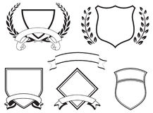 Banners and Crests. Banners, crests, ribbons for logos Royalty Free Stock Photos