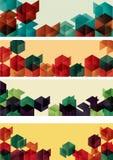 banners cube geometric gradient set web Στοκ εικόνες με δικαίωμα ελεύθερης χρήσης