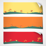 Banners curled spring flower Stock Image