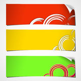 Banners curled summer Royalty Free Stock Image