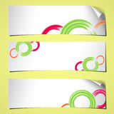Banners curled summer white Royalty Free Stock Images