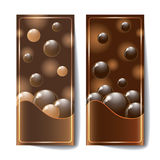 Banners with dark chocolate texture. Stock Image